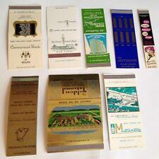 Miami Beach Fla salesman sample matchbook covers businesses 1960s set 8 Florida