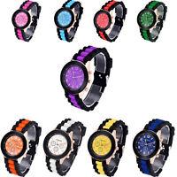Colorful Unisex Geneva Silicone Jelly Gel Quartz Analog Sports Wrist Watch AU