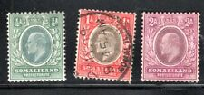 #40 #41 #42 SOMALILAND PROTECTORATE STAMPS MINT HINGED & USED  LOT 17146