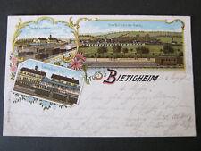 Lithographie AK Bietigheim Bissingen Bahnhof Viadukt Eisenbahn > Stuttgart 1902