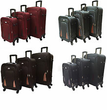 Canvas Soft Unisex Adult Wheels/Rolling Suitcases