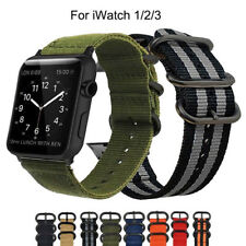 Sports Military Canvas Nylon Fabric Wristwatch Band Strap for Apple Watch 1 2 3