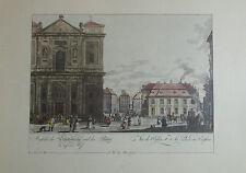 Carl Schütz Aussicht der Schottenkirche Wien - Kunstblatt Reproduktion print