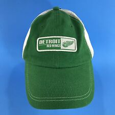 New Detroit Red Wings Snapback Hat Green Trucker Hockey Cap Old Time Sports