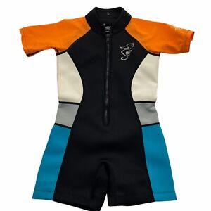 Seavenger Wetsuit Youth Size 6 6X Black Colorblock Shorty UV UPF 50+ Neoprene