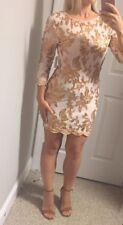 New Asos Tfnc London Sequin Mini Dress Size U.K. 14 Us 10 Sexy