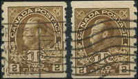 Used Canada 2c+1c 1916 F+ (2) Die I Scott #MR7a War Tax Stamps