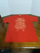 Red Rocker Sammy Hagar Wabos Exclusive On Stage Fanatic Concert Shirt SZ M RARE