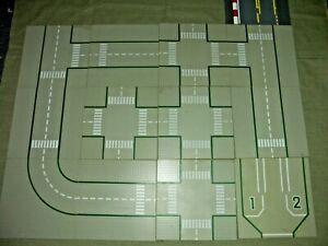 Lego  - 13 Straßenplatten , Platten - grau - Konvolut