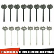 Set of 16 Intake Exhaust Engine Valves Fit For GM 2.0 -2.2 - 2.4 ECOTEC DOHC