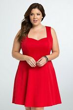 NWT Torrid Plus Size 4X Rockabilly Pinup Textured Knit Sweetheart Plus Dress