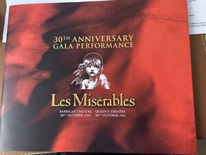 30th ANNIVERSARY GALA PERFORMANCE LES MISERABLES programme 2015