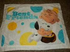 Disney The PEANUTS MOVIE Snoopy Charlie Brown Pillow Sham Pillow Case Microfiber