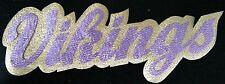 "HUGE METALLIC MINNESOTA VIKINGS IRON-ON PATCH - 4"" x 11"""