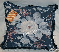 Floral Blue Accent Decorative Throw Pillow Home Decor 17x17 new