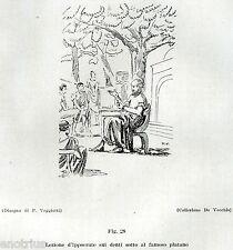 IPPOCRATE FA UNA LEZIONE SUI DENTI. Medicina. Dentiste. Dentist. Zahnarzt. 1929