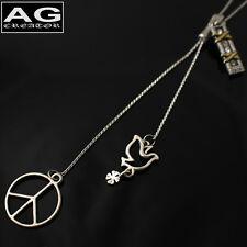 Peace dove zipper style bolo tie chain necklace US  SELLER