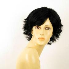 perruque femme 100% cheveux naturel courte noir ref SHINA 1b