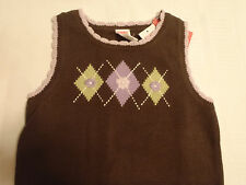 GYMBOREE Size 5-6 Brown Cowgirls At Heart Sleeveless Sweater Vest Shirt NWT