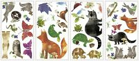 35 New WOODLAND FRIENDS WALL DECALS Forest Animals Stickers Baby Nursery Decor