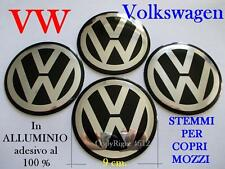 n.4 VOLKSWAGEN VW NERO Coprimozzi Tappi Cerchi Wheel 9 cm 90 mm GOLF POLO BEETLE