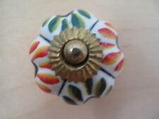 Porcelain / ceramic knobs. German? set of 8