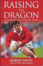 ROBERT JONES WALES LIONS RUGBY AUTOBIOGRAPHY BOOK 2001 RAISING THE DRAGON SIGNED