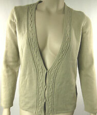 Marco Polo Beige Long Sleeve V Front Cardigan Cardi Top Size L 14/16 BNWT #D59