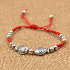 1 PC Fish Lucky Pisces Red String Bracelet Rope Bangle Cuff Traditional Chinese