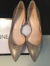 New Nine West Carao Sand Gold Textured Pumps Heel shoes 7.5