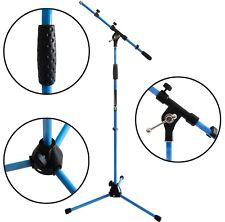 KEEPDRUM MS106 BL Blau Mikrofonständer Mikrofonstativ mit Galgen u Metall-Sockel