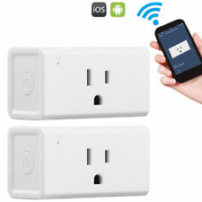 2x Mini Smart Wi-Fi Mini Outlet Plug Switch Fit Amazon Echo Alexa Socket Remote