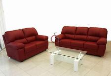 divano imbottito 2 posti in ecopelle pelle salotto di ottima qualità italy bordò