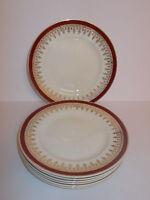 6 x Vintage Myott Side Tea Cake Plates Ironstone Royalty 17.5cm Lovely