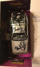 Michael J Fox & Christopher Lloyd Auto Signed JSA #Z04101 1:24 Diecast Delorean