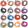 Wholesale Natural Agate Quartz Gemstone Loose Spacer Round Beads Finding 4-10MM