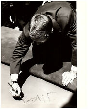 Steve McQueen Signing Autograph Grauman's Chinese Theater Original Stamped Photo