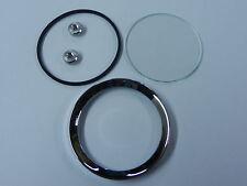 """2"""" CHROME BEZEL KIT, Half V Profile Oil/Fuel/Ammeter"""