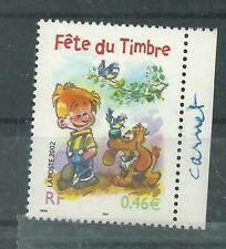N° 3467 Boule et bill  Fête du timbre de carnet  oblitéré année 2002
