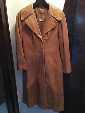 Vintage Butter Soft Leather Trench Coat Jacket Women's Skin Gear 6 8 70s Brown