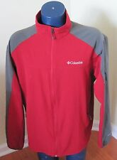 Columbia Shadow Heights Softshell Jacket Omni-Shield Men's red gray Large L