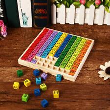 Montessori Spielzeug Einmaleins Mathematik Lernspiel Kinder Geschenk Zahlen Holz