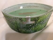 Woodwick Palm Leaf Decal Ellipse Candle 16oz  Yankee Hearthwick NEW Green
