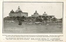 Advertising Postcard For The Ralston Realty Company, San Diego, California CA