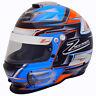 ZAMP RZ-42 SA2015 Racing Helmet - Auto / Karting Snell Rated Blue Orange Graphic