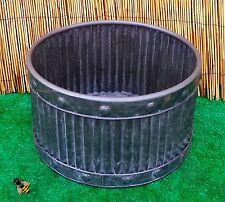 FIORIERA da giardino in metallo vasca Rotonda Zinco a costine Medium POT Patio Nuovo