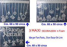 NATALE 3 MAXI DECORAZIONI AUGURALI in FOAM PROMOZIONE STOCK Come in Foto