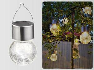 Blanco Cálido Bola Solar Lámpara Redonda Lámparas Colgantes de Jardín Decoración