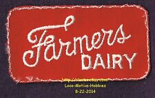 LMH PATCH Badge  FARMERS DAIRY  Milk Cheese Butter 1960s 1970s Uniform Logo 3.8""