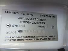 CITROEN DISPATCH TRANS/GEARBOX MANUAL, 6SPD, G9C, 04/08-